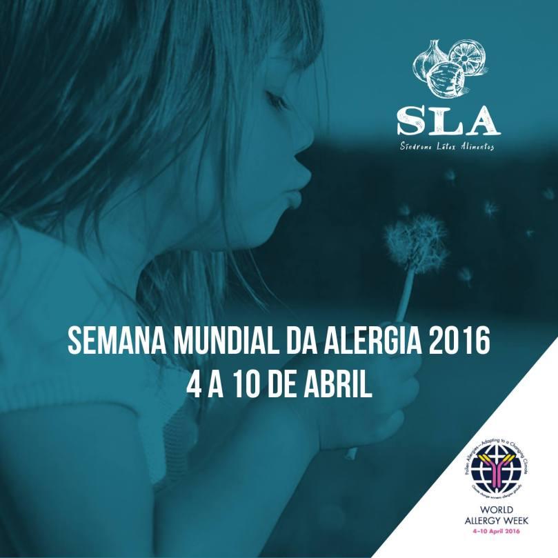 Folder da Semana Mundial da Alergia 2016.